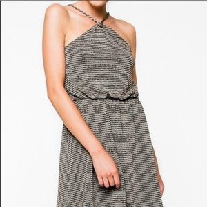 Anthropologie EVERLY Shimmer Holiday Dress